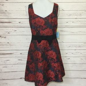 NEW CeCe Fit To Flare Floral Party Dress